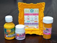 Moldura de resina flocada amarela (Atelier Mundo Country - Tays Rocha) Tags: artesanato decor decorativos decoração homedecor diy pap passoapasso cores colors truecolors decorate