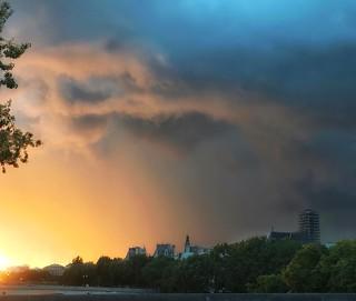 Sunset over the Seine...