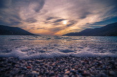 On the beach (Vagelis Pikoulas) Tags: sun sunset porto germeno greece europe sea seascape landscape may 2017 spring beach rock rocks waves wave wavy sky clouds cloudy cloud view nature tokina 1628mm full frame canon 6d