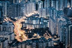 Matrixcape (@Mahalarp) Tags: buildings citylight cityscape fujifilm fujifilmxseries hongkong lighttrail lionrock mountain night skyscrapers xpro2 kowloon hk