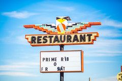 Prime Rib (Thomas Hawk) Tags: america newmexico route66 thunderbirdrestaurant tucumcari usa unitedstates unitedstatesofamerica neon restaurant fav10 fav25