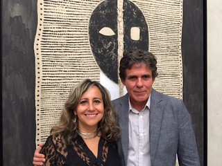 Alluna Art Foundation co-founders: Adriana Herrera and Willy Castellano