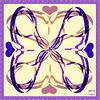 Nuala Quinn-Barton Hearts and Swirls Design Purple and Pink (nualaquinn-barton) Tags: nualaquinnbarton nuala quinnbarton beverlyhills hearts swirls parishilton