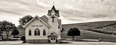 Country Bible Church (PJ Resnick) Tags: 2017 pjresnick palousewa perryjresnick pjresnickgmailcom pjresnickphotographygmailcom ©2017pjresnick ©pjresnick light fuji fujifilm atmosphere atmospheric digital shadow texture shadows yellow angle perspective naturallight white xf fujinon resnick outdoor brown orange rectangle rectangular color colour sky clouds xpro2 fujifilmxpro2 washington grass landscape field drama monochrome monochromatic sepia church 23mm fujinon23mmf14 23mmf14