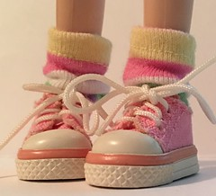 Short Pastel Striped Socks...For Blythe...