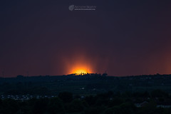 Amazing sunset over Drogheda (mythicalireland) Tags: sunset setting sun shower cloud evening storm dark light drogheda louth millmount boyne valley summer globe fiery flaming heat ball solar