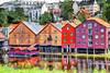 Maisons de Trondheim 3 (Xtian du Gard) Tags: houses maisons trondheim norvège norway entrepôts reflets reflaction colors landscape waterscape painting digiart xtiandugard