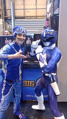 Blue team (Fablesandzombies) Tags: power rangers sportacus cosplay