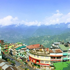 The lovely city of Gangtok, Sikkim, India #colourful #travel #wanderlust #nofilter