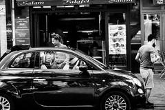 Woman in car (christian.haas) Tags: sch schwarzweiss streetfotografie weiss auto frau
