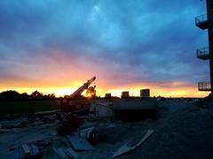 Sunset at new home (Schep_B) Tags: markermeer almere sunset duin zonsondergang