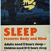 Sleep Restores Body and Mind