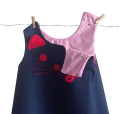 CAT DRESS DETAILS (Mamipaula y Pipocass Handmade) Tags: catdressforbabies pipocasshandmade petit pipocass denim cat dress vestido gatita vaquero pipocasscom
