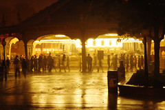 Rainy Carousel (Fire At Will [Photography]) Tags: carousel rain night people silhouette silhouettes group light long exposure water kings dominion theme amusement park virginia va fw fire will photography photo halloween haunt