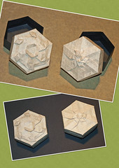 Rhombus twist boxes (mganans) Tags: origami tessellation box