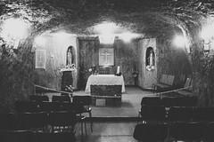Wires (Swebbatron) Tags: australia southaustralia cooberpedy church underground mines opal groovygrape fuji radlab blackandwhite mono travel 2008 catholic catholicism stpeterandpaulchurch