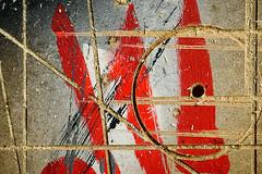 Day #3444 (cazphoto.co.uk) Tags: panasonic45mmf28leicadgmacroelmaritasph bbcelstree borehamwood hertfordshire panasonic lumix dmcgx8 project365 beyond3288 050617 bench carpenter mdf patterns red texture
