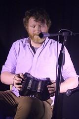 Caoimhín Ó Raghallaigh & Cormac Begley (2017) 05 - Cormac Begley (KM's Live Music shots) Tags: folkmusic ireland irishfolk caoimhinoraghallaighcormacbegley cormacbegley jeffriesconcertina angloconcertina concertina ceol londonirishcentre