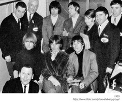WTRY DJ's with the Rolling Stones (albany group archive) Tags: albany ny history rolling stones concert palace theater 1965 wtry jay clark ed reilly bill wyman charlie watts bob fuller connell brian jones mick jagger keith richards lee gray 1960s radio old vintage photo photograph picture historic historical