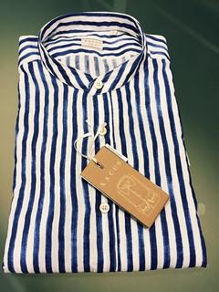 Camicia XACUS collo coreana 100% cotone