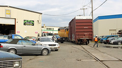 UP 667 ~ Seattle Industrial District (Chris City) Tags: train railway railroad branchline streetrunning industry boxcar uprr seattle switching