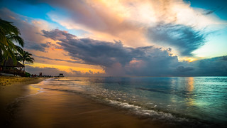 Stormy sky at sunset..!