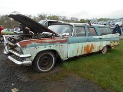 1957 Dodge Custom Royal Wagon (splattergraphics) Tags: 1957 dodge customroyal wagon stationwagon rust forwardlook mopar carshow carlisle springcarlisle carlislepa