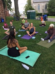 First Yoga Class in the Lavender Field