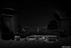 Invisible (violetcazador) Tags: barbie dolls diorama dark subversive homeless invisible addiction drunk