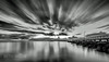 WOW on Wello (Beth Wode Photography) Tags: sunrise dawn morning clouds le dramaticsky blackandwhite wellingtonpoint redlands jetty pier wellingtonpointjetty beth wode bethwode