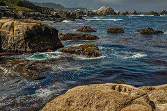 Point Lobos: misty morning (bodro) Tags: monterey bay earlymorning misty nature ocean pointlobos reserve rocks water