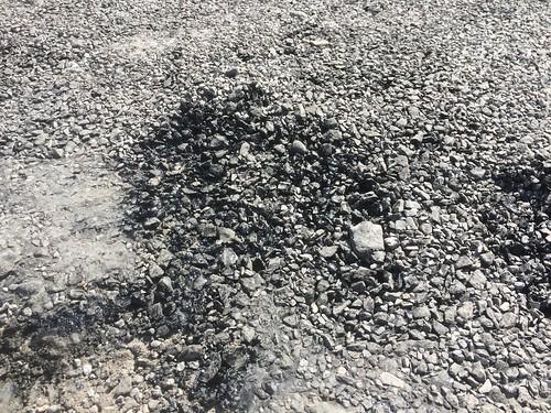 2017-06 Picos en Pyreneeën gesmolten asfalt