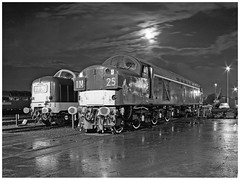 Moonlight and noses (geoff7918) Tags: 55022 d9000 d335 tyseley depot 05101987