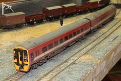 158906 (midland.road) Tags: carrcrofts armleymoor armley leeds model railway train layout henrymusgrave coalyard 158906 class158 metrotrain red