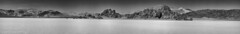 B&W Panorama of The Grandstand (taharaja) Tags: cactus california deathvalley desert furnacecreek ghosttown jeeping lowestpoint nationalpark offroad oldtown racetrack sealevel zabriskiepoint lakebed movingstones slatflats