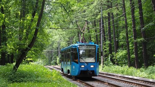 Moscow tram 5127 Izmailovskiy park