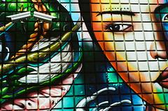 Watching You (tuzakey) Tags: push1 mural portra400 cameras n8008 f50 3200 toronto 12000s baldwinpark surveilance f8