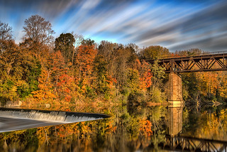 A sunrise photo from last fall at Paris Dam