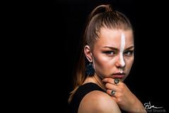 Stripe (mSliwo) Tags: portrait women black backgroud dark strobist studio photo shoot photoshoot jewelery trinkets promo