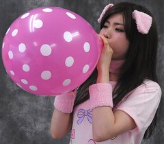 Pretty Pig? Please Prevent Pop! (emotiroi auranaut) Tags: girl woman lady cute attractive adorable pig ears model female feminine femininity beauty beautiful charm charming effort trying air pink white polka dots toy balloon fun breathe breathing concentrate concentration people amusement blow blowing swell expand expanding squeak play playing playful mischief mischievous bigger grow growing fascinated fascinating fascinate huff puff huffing puffing big large larger risk pop sweet sweetness gorgeous explode explosion burst face hair puffy cheeks