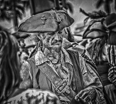 It be a Pirate (shottwokill) Tags: events pirate2017 d800 pirate bw 80200 nikkor pscc rugged nikon bwconversion