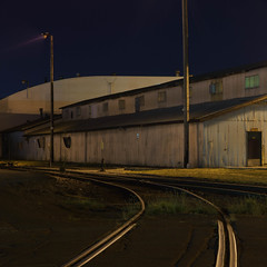 This Song We Once Knew (rosenunezsmith) Tags: lanecounty night eugene builtlandscape railroadtrack industriallandscape industrial building america longexposure pacificnorthwest oregon pnw upperleftusa lowlight