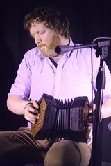 Caoimhín Ó Raghallaigh & Cormac Begley (2017) 06 - Cormac Begley (KM's Live Music shots) Tags: folkmusic ireland irishfolk caoimhinoraghallaighcormacbegley cormacbegley dipperconcertina bassconcertina angloconcertina concertina ceol londonirishcentre