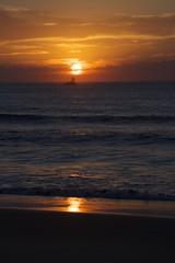 Sunrise (Hannahmaree3) Tags: newcastle nobbyslighthouse sunrise boat ocean nsw midnorthcoast visitnewcastle