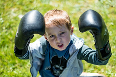 The Boxer - DSCF2015 (s0ulsurfing) Tags: s0ulsurfing 2017 march isle wight william boxer boxing garden boy play imagination fuji xseries xt2