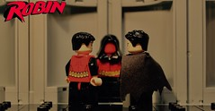 All New Robin - Heir to the Demon #11 (Supremedalekdunn) Tags: lego batman the dark knight robin heir demon ras alghul red hood dick grayson nightwing jason todd tim drake bruce wayne dcsg thefilmgmr thelegoguy legosuperheroes superman justice league wonder woman green lantern indoor talia blackandwhite monochrome batcave redrobin