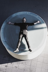 """Vitruvian Man"" (amatulow) Tags: el hombre de vitruvio leonardo da vinci color canon colors colores rebel t3 50mm 18 1100d man vitruvian art arte renacimiento circulo circle human humano renascence squaring cuadratura del"