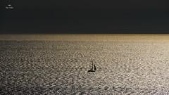Un monde meilleur (Fred&rique) Tags: lumixfz1000 photoshop falaises leucate mer méditerranée voilier bateau matin paysage nature minimaliste