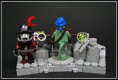 Captain Keel, Space Pirate. (Karf Oohlu) Tags: lego moc minifig vignette pirate spacepirate piratecaptain helmsman