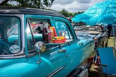 Drive In (Silver Machine) Tags: vintagenostalgiafestival stockton wylyevalley drivein coke cocacola parasol deckchair car fujifilm fujifilmxt10 fujinonxf35mmf2rwr